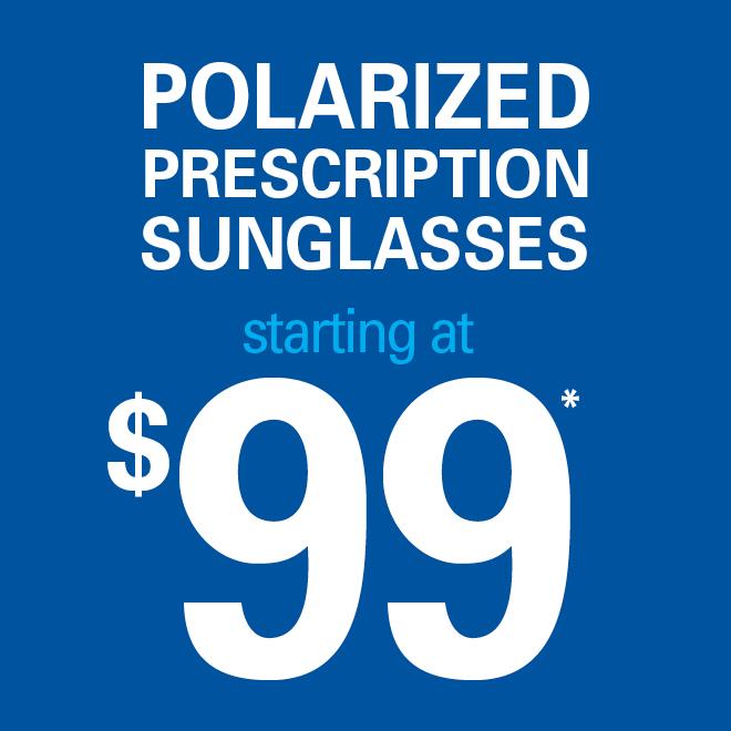 Polarized prescription sunglasses starting at $99